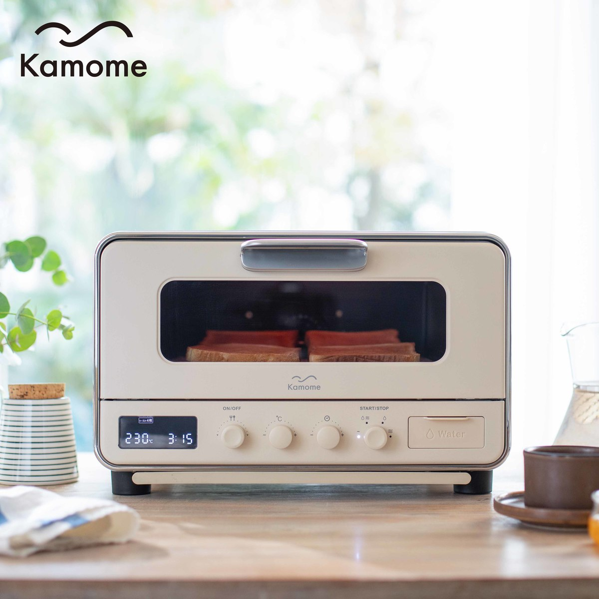 Kamome スチームコンベクションオーブン K-CT1 トースター 食パン おいしい カモメ かもめ おしゃれ パン焼き機 パン焼き器 トースト