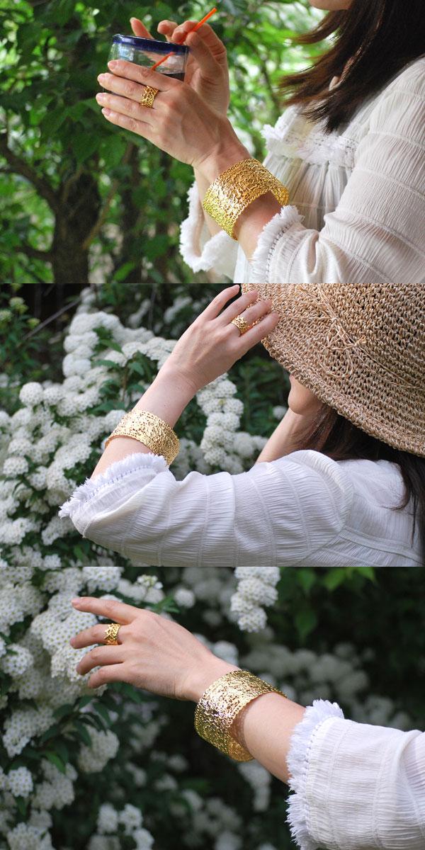 15ef32e79f Race / watermark / flower / flower/Bangle/Bracelet/18 KGF