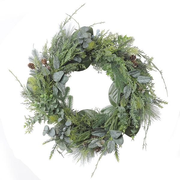 《 クリスマス リース 》Asca/アスカ ミックスリーフリース 造花 クリスマスリース
