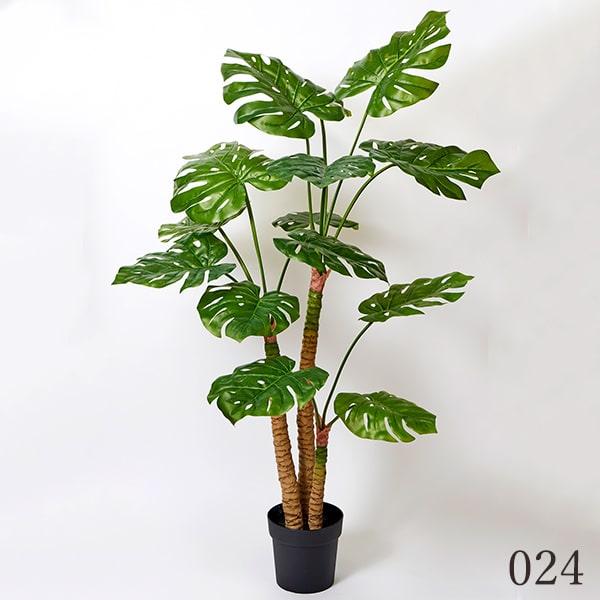 《 造花 グリーン 観葉植物 》花びし/ハナビシ 5FTモンステラポット グリーンインテリア