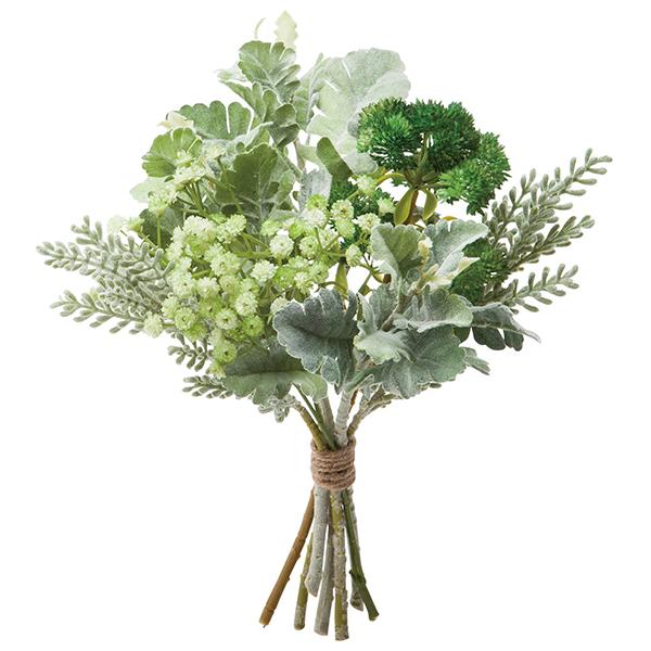 《 造花 グリーン 》Poppy/ポピー フレッシュグリーンブーケ(1セット4束入り) グリーンインテリア