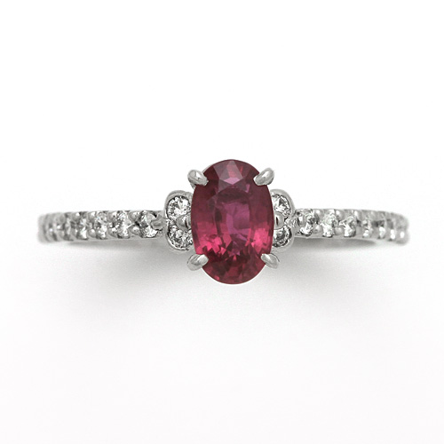 最高級品質 プラチナ ピジョンブラッド ルビー 0.79ct ダイヤモンド 0.192ct リング