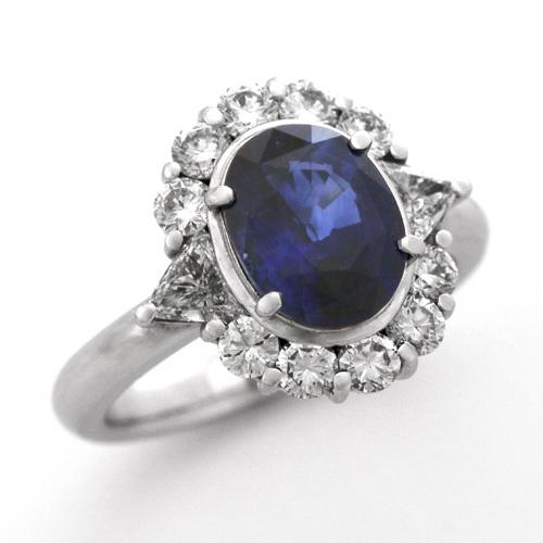 ロイヤルブルーサファイアリング プラチナ ロイヤルブルー サファイア 2.60ct ダイヤモンド 1.01ct