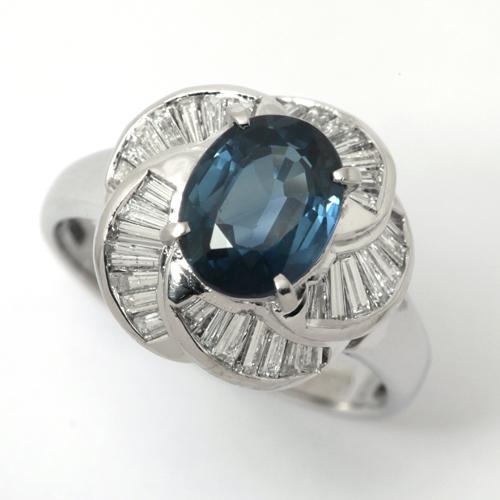 プラチナ サファイア 2.37ct ダイヤモンド 0.53ct リング