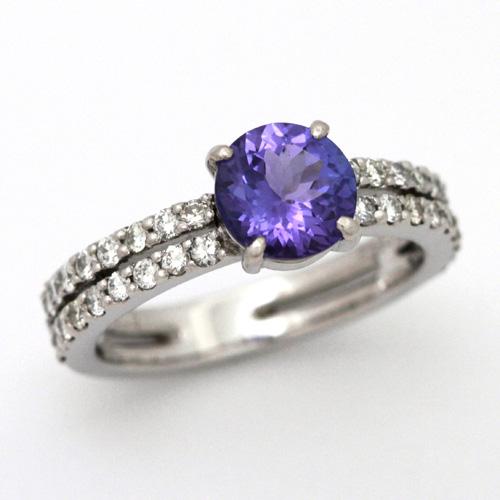 プラチナ タンザナイト 1.32ct ダイヤモンド 0.509ct