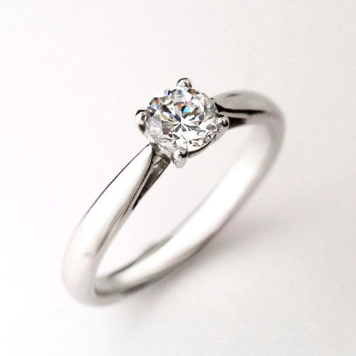 婚約指輪 ダイヤモンドエンゲージリング プラチナ GIA鑑定書付き 0.53ct Dカラー FL 3EX