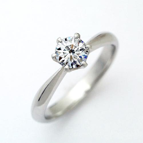 婚約指輪 ダイヤモンドエンゲージリング プラチナ GIA鑑定書付き 0.71ct Dカラー FL 3EX