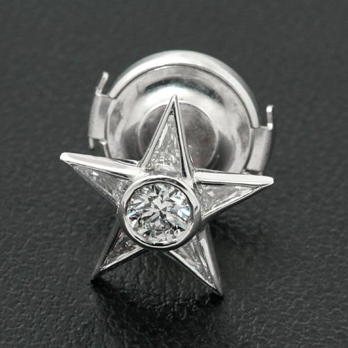 ネクタイピン Pt900 ダイヤモンド E VVS1 3EX H&C 0.236ct ダイヤモンド 0.30ct