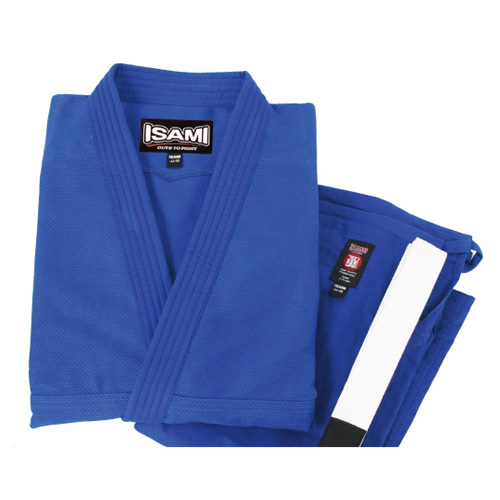 【isami イサミ オフィシャルサイト】軽量柔術衣 (青)上下帯付セット A1(4)~A4(7)号