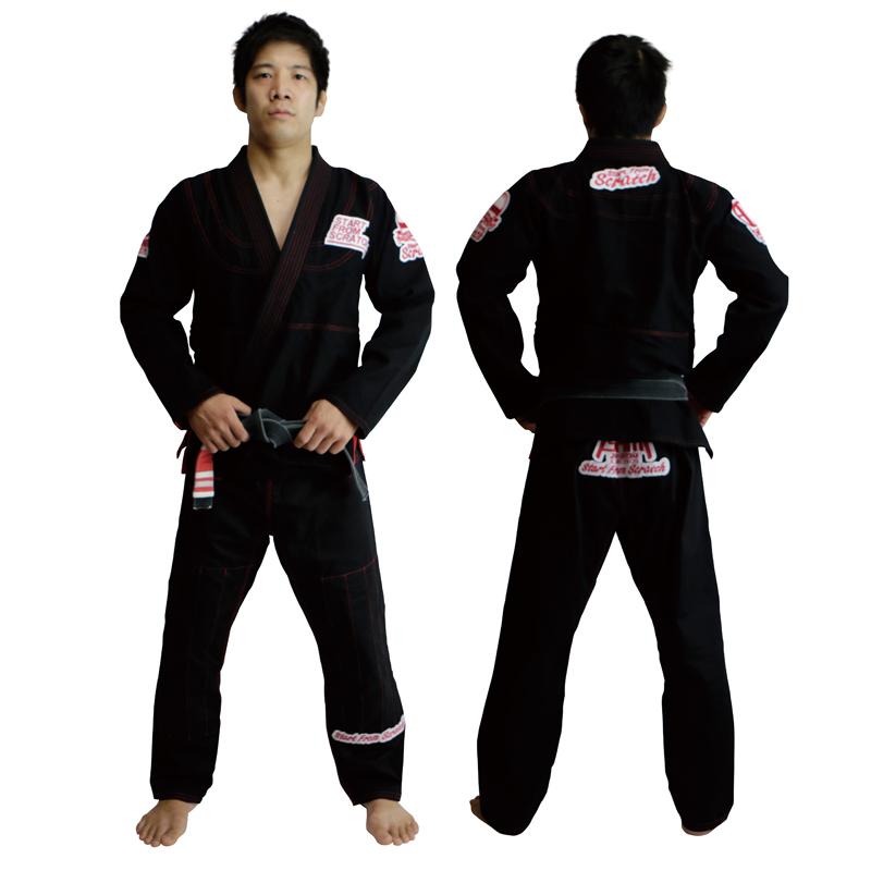 スクラッチ柔術衣 黒 M0~M3