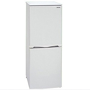 アビテラックス 2ドア冷蔵庫(143L・右開き) AR‐150E‐W (ホワイトストライプ)(標準設置無料)