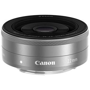 Canon 薄型パンケーキレンズ EF-M22mm F2 STM EFM222STMSL〈シルバー〉
