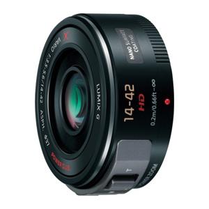 パナソニック 交換レンズ LUMIX G X VARIO PZ 14-42mm/F3.5-5.6 H-PS14042-K (ブラック)(送料無料)