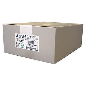 エーワン 再生紙レザープリンタラベル ~四辺余白付~(A4サイズ・12面・500シート) 31642(送料無料)