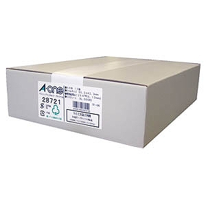 エーワン パソコンプリンタ&ワープロラベルシール(A4サイズ・12面・500枚) 28721