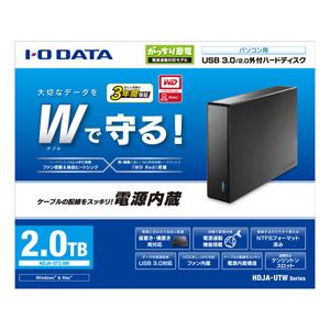 I-O DATA HDドライブ1              HDJAUT2.0W(送料無料)