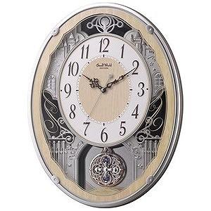 リズム時計工業 電波からくり時計「スモールワールドクラッセ」 4MN538RH23