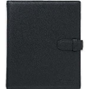 キングジム スマートフォン用ショットノート 本革 ルーズリーフバインダー(A5サイズ・20枚) 9182LB (ブラック)