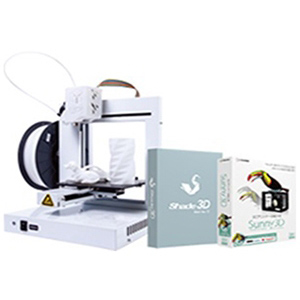 3Dプリンタセット(UP!Plus2 ホワイト+sunny 3D+shade3D) 3DP-S-01