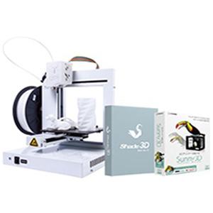 日本3Dプリンター 3Dプリンタセット(UP!Plus2 ホワイト+sunny 3D+shade3D) 3DP-S-01