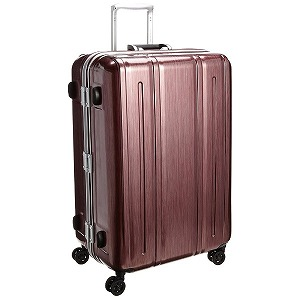 TSAロック搭載スーツケース 軽量Wキャスター PCフレームキャリー(94L) 31229 (レッドヘアライン)(送料無料)