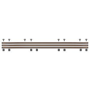 ハヤミ工産 カスタムラック用ボード(ダークブラウンメタリック)支柱別売 K-MSR-3W-DB(送料無料)
