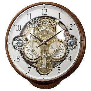 リズム時計工業 電波からくり時計「スモールワールドシーカー」 4MN515RH23(送料無料)