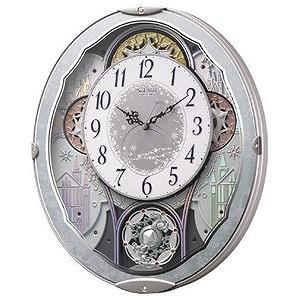 リズム時計工業 電波からくり時計「スモールワールドビスト」 4MN537RH04