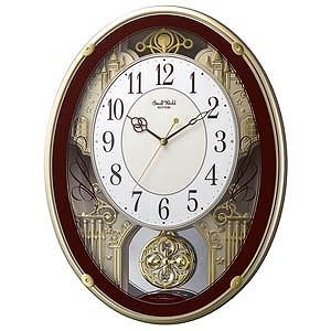 リズム時計工業 電波からくり時計「スモールワールドプラウド」 4MN523RH06