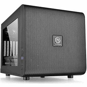 Micro ATX/Mini ITX対応キューブ型PCケース Core V21(電源なし) CA-1D5-00S1WN-00 (ブラック)
