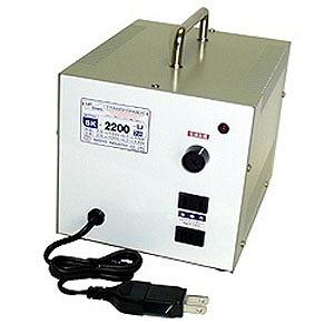 日章工業 変圧器「トランスフォーマ SKシリーズ」(120V⇔100V・容量2200W) SK‐2200U