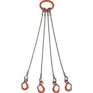 大洋製器 4本吊 ワイヤスリング 5t用×1.5m 4WRS 5T×1.5(送料無料)
