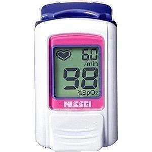 日本精密測器 指先クリップ型パルスオキシメータ(経皮的動脈血酸素飽和度計)「パルスフィット」 BO-600-11P (スウィートピンク)