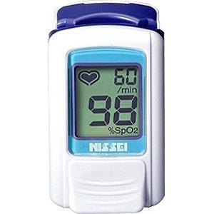 日本精密測器 指先クリップ型パルスオキシメータ(経皮的動脈血酸素飽和度計)「パルスフィット」 BO-600-11B (アジュールブルー)