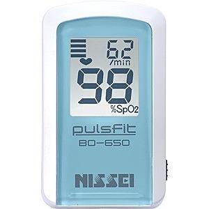 日本精密測器 指先クリップ型パルスオキシメータ(経皮的動脈血酸素飽和度計)「パルスフィット」 BO-650-11B (クレール・ブルー)