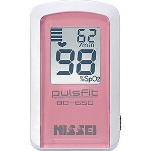 日本精密測器 指先クリップ型パルスオキシメータ(経皮的動脈血酸素飽和度計)「パルスフィット」 BO-650-11P (プリンセス・ローズ)