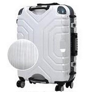 シフレ TSAロック搭載スーツケース(83L) B5225T‐67 (ヘアラインホワイト/ブルー)
