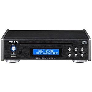 ティアック CDプレイヤー(ブラック)「ワイドFM対応」 PD‐301‐B(送料無料)