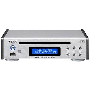 ティアック CDプレイヤー(シルバー)「ワイドFM対応」 PD‐301‐S(送料無料)