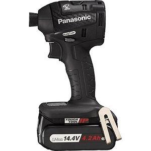 パナソニック Panasonic 充電インパクトドライバ14.4V 4.2Ah ブラック EZ75A7LS2F‐B