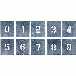 つくし工房 吹付プレート 数字(0~9) 10枚組 中サイズ J91B