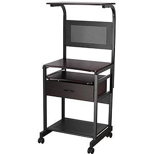 レメックスジャパン 縦型スライドテーブル(引出し付き) RPD‐5011‐DW (ダークウッド)