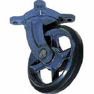 鋳物製自在金具付ゴム車輪250MM AJ250