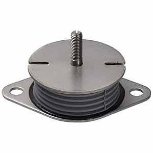 大化工業 防振材インシュレータープレート(ゴム被覆)鉄 30~75kg SF50STEEL