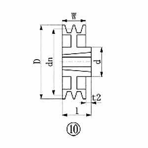 エバオン ブッシングプーリー SPA 280mm 溝数2 SPA2802