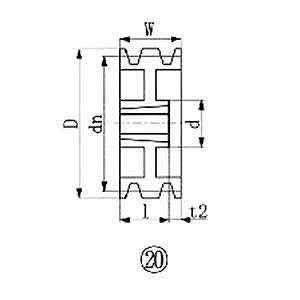 エバオン ブッシングプーリー SPB 236mm 溝数3 SPB2363