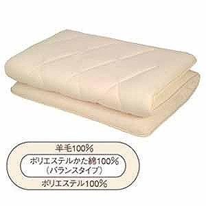 生毛工房(うもうこうぼう) バランスかた綿四層式敷ふとん(シングルサイズ/ナチュラル)「日本製」 UM‐B42‐S‐NA(100