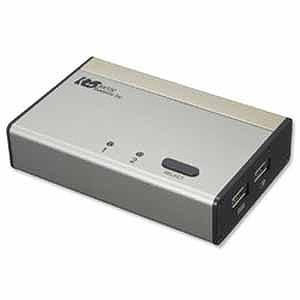 ラトック USB接続 DVI・Audio対応(PC2台用)パソコン自動切替器 REX‐230UDA