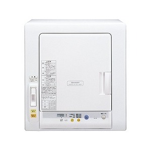 シャープ 衣類乾燥機(5.5kg) KD‐55F‐W/ホワイト(標準設置無料)
