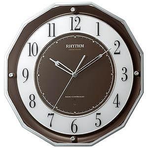【あすつく】 リズム時計工業 電波掛け時計 「スリーウェイブM846」 電波掛け時計 4MY846SR06, 十勝たちばな:80aaa080 --- rki5.xyz